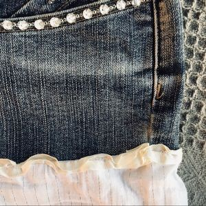 Candie's Skirts - Candie's Western Festival Jean & White Cloth Skirt